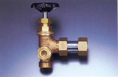 NY式ダブル弁止水栓(コック式縦型)