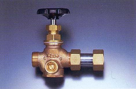 NY式ダブル弁止水栓(ボール式横型)