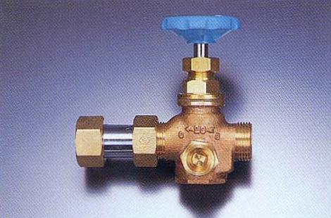 NY式ダブル弁止水栓(ボール式L型)